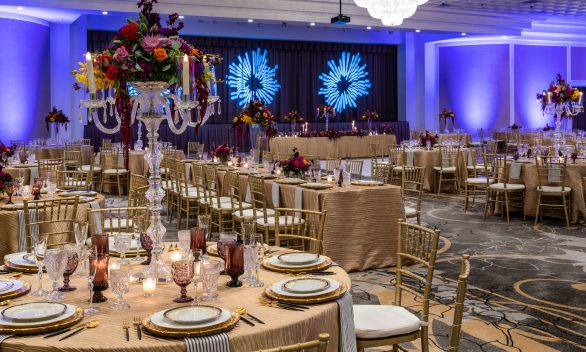 Ballroom Banquet with Head Tables